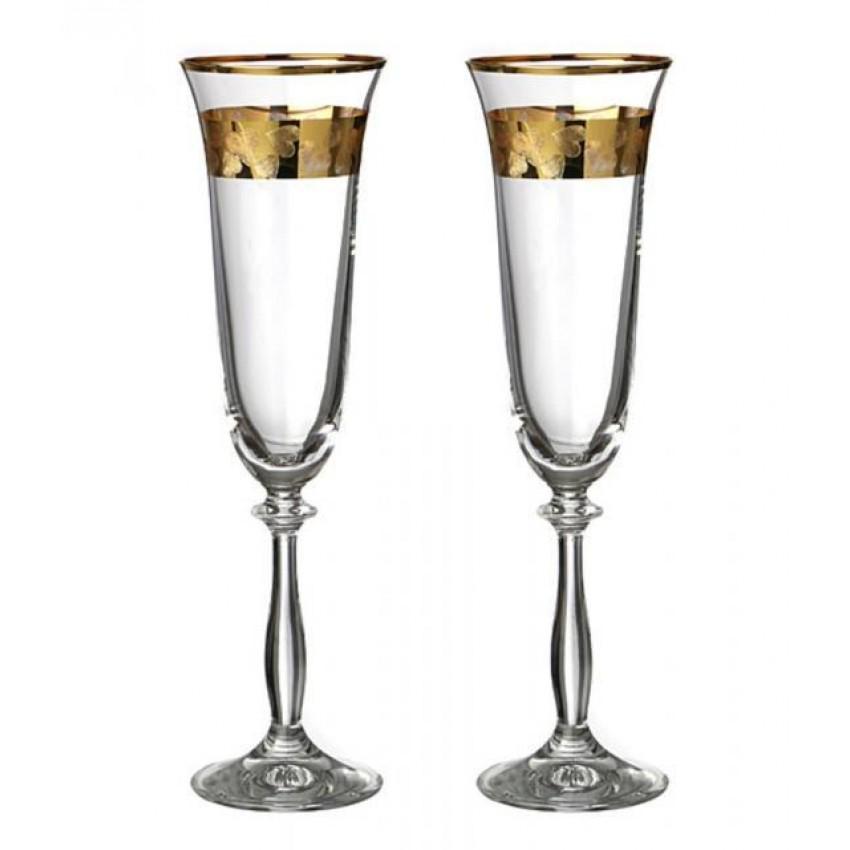 Ритуални чаши 190ml Златни сърца - 2 броя