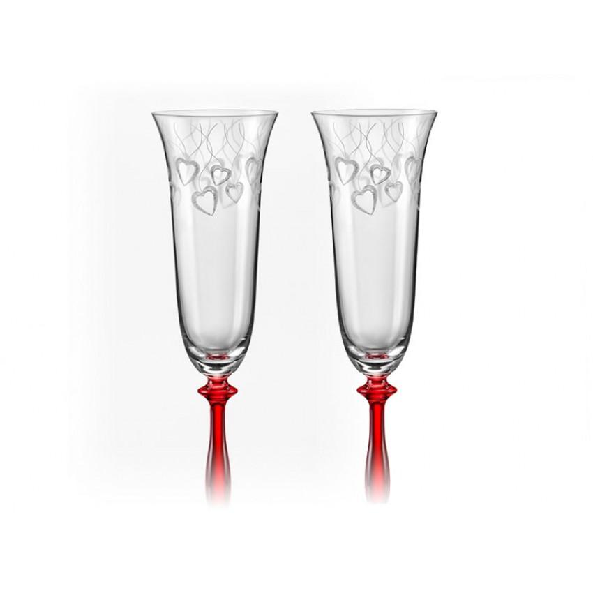 Ритуални чаши 190ml Червени сърца - 2 броя