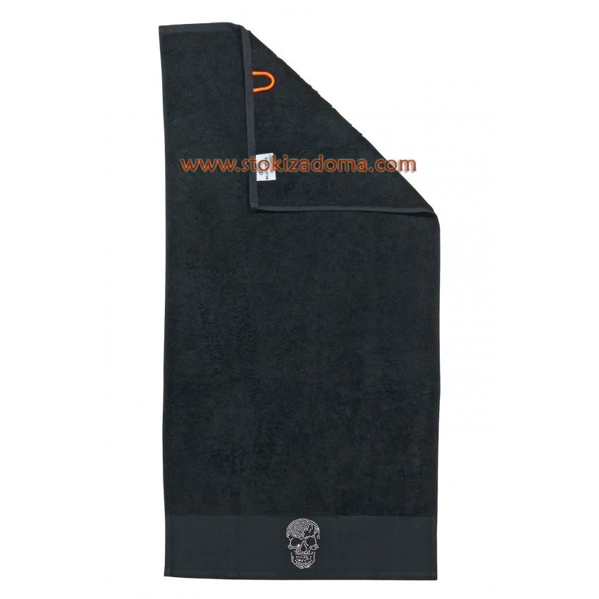 Кърпа 50см х 100см - череп - черна