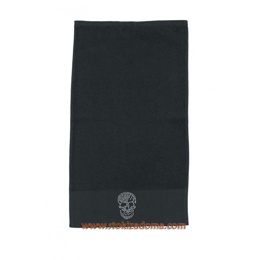 Кърпа 30см х 50см - череп - черна