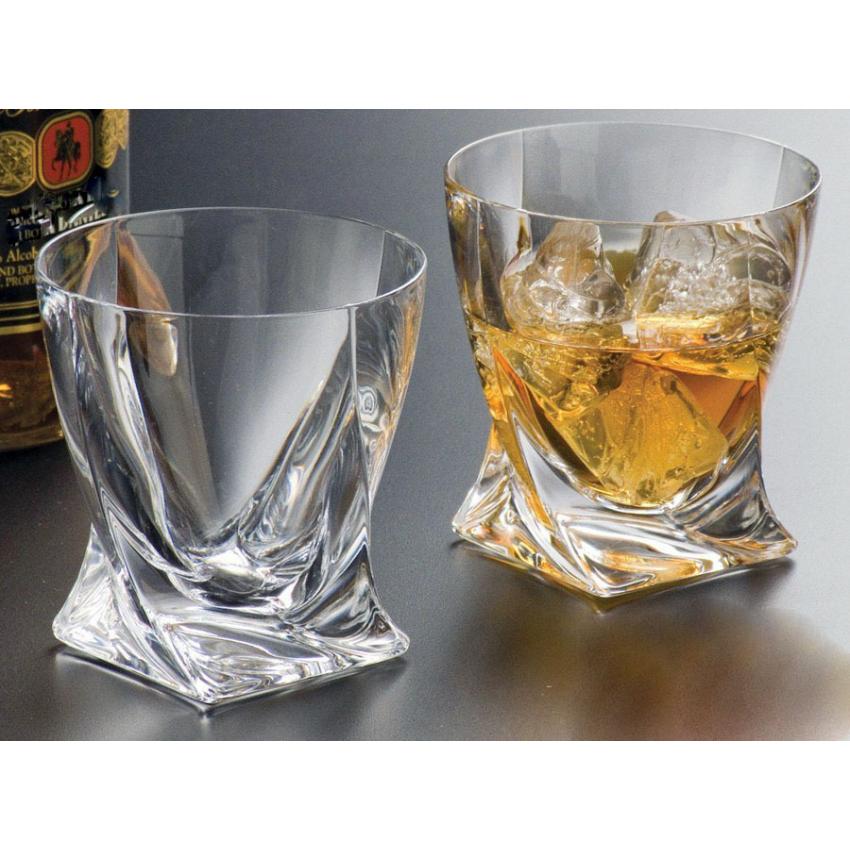 чаши Bohemia Quadro за уиски - 6 броя