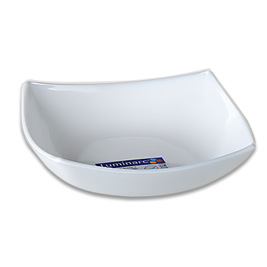 Дълбока чиния Quadrato - 6 броя - бели