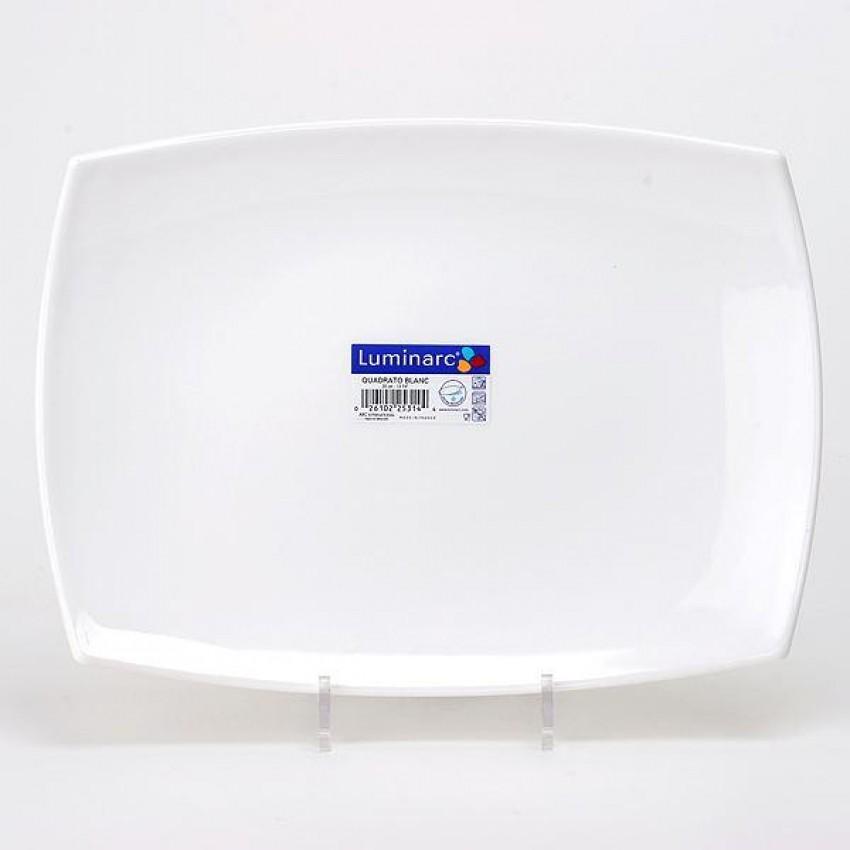 Плато Quadrato 35см х 25см - 1 брой - бяло