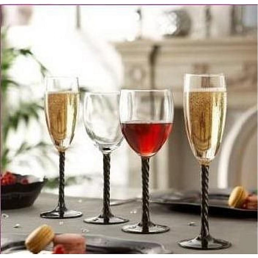 Чаши Authentic Noir за вино и вода - 6 броя