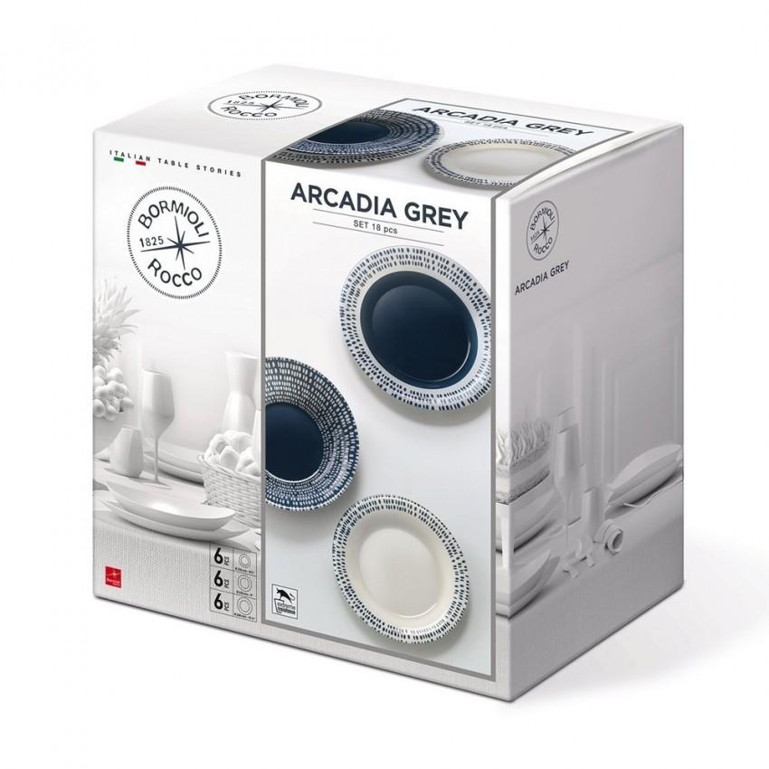 Сервиз Bormioli Rocco Arcadia Grey - 18 части