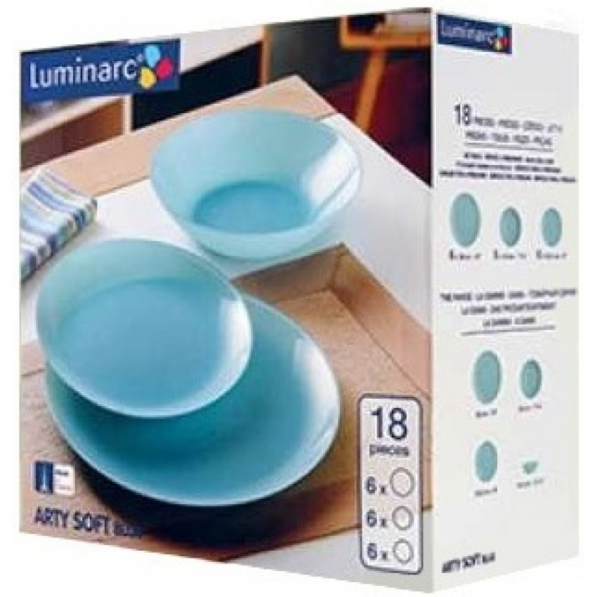 Сервиз Luminarc Arty Soft Blue - 18 части