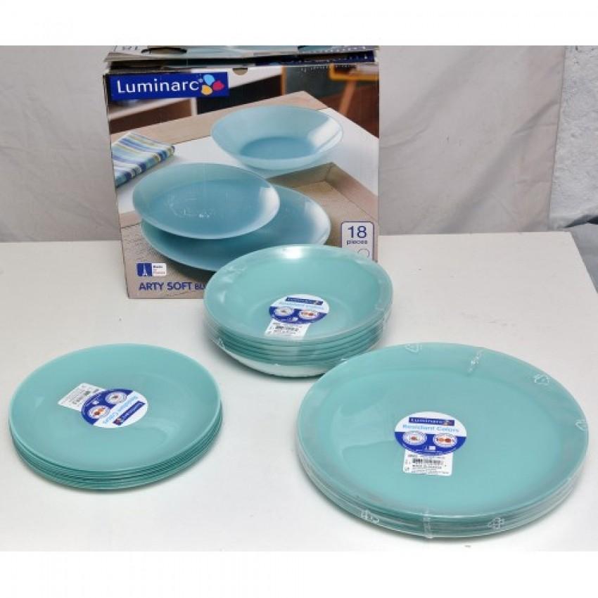 Сервиз Luminarc Arty Soft Blue - 18 части