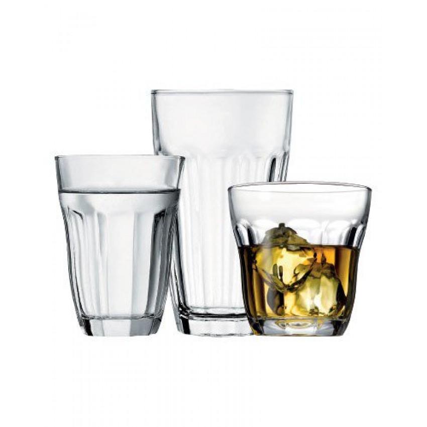 Комплект стъклени чаши Baroque - 18 части