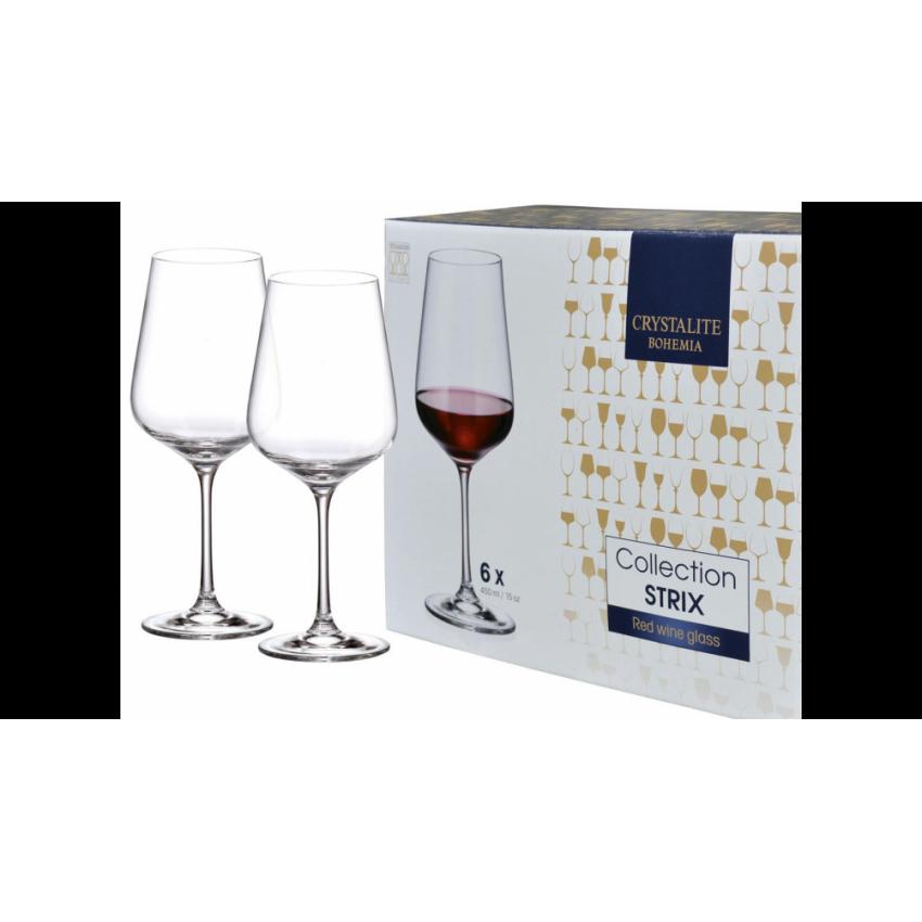 чаши за червено вино Bohemia Strix 450ml - 6 броя