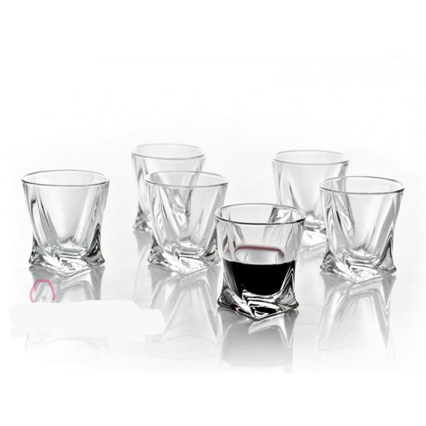 чаши Quadro за алкохол 55мл - 6 броя