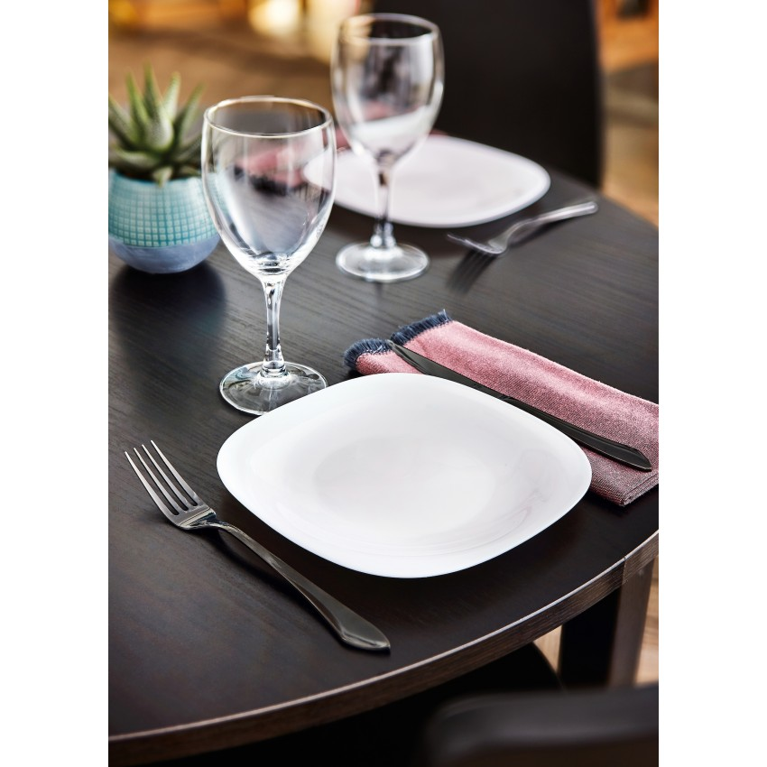 Десертна чиния 19см - Luminarc Carine - бяла - 6 броя