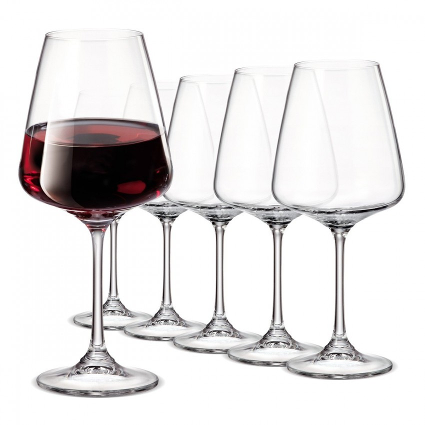 Чаши за вино Bohemia Corvus 360ml - 6 броя