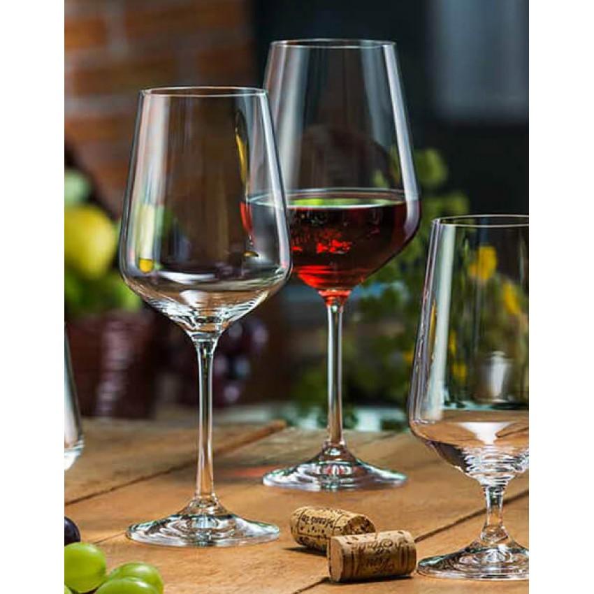 чаши за червено вино Crystalex Siesta 500ml - 6 броя