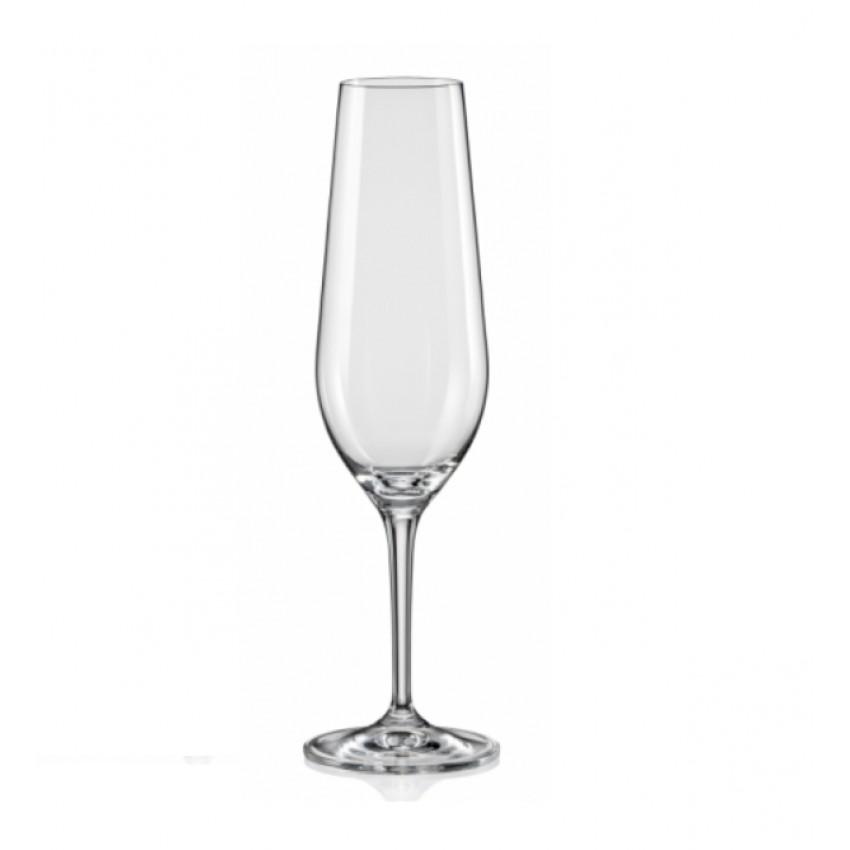 чаши за шампанско Amoroso 200ml - 6 броя
