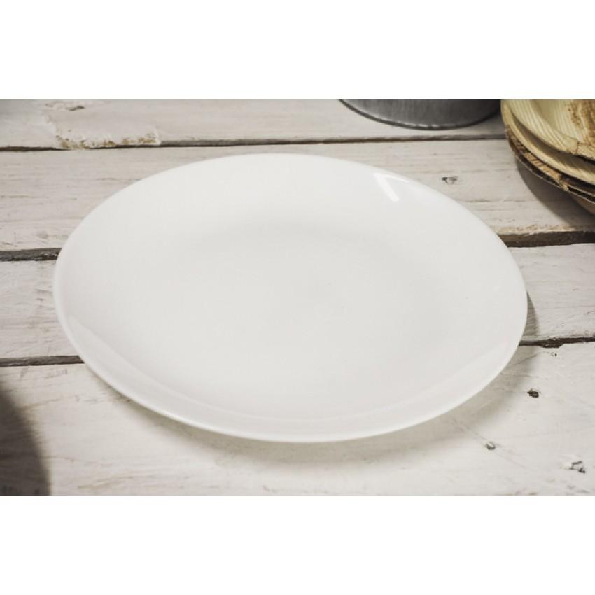 Десертна чиния 19см Luminarc Diwali бяла - 6 броя