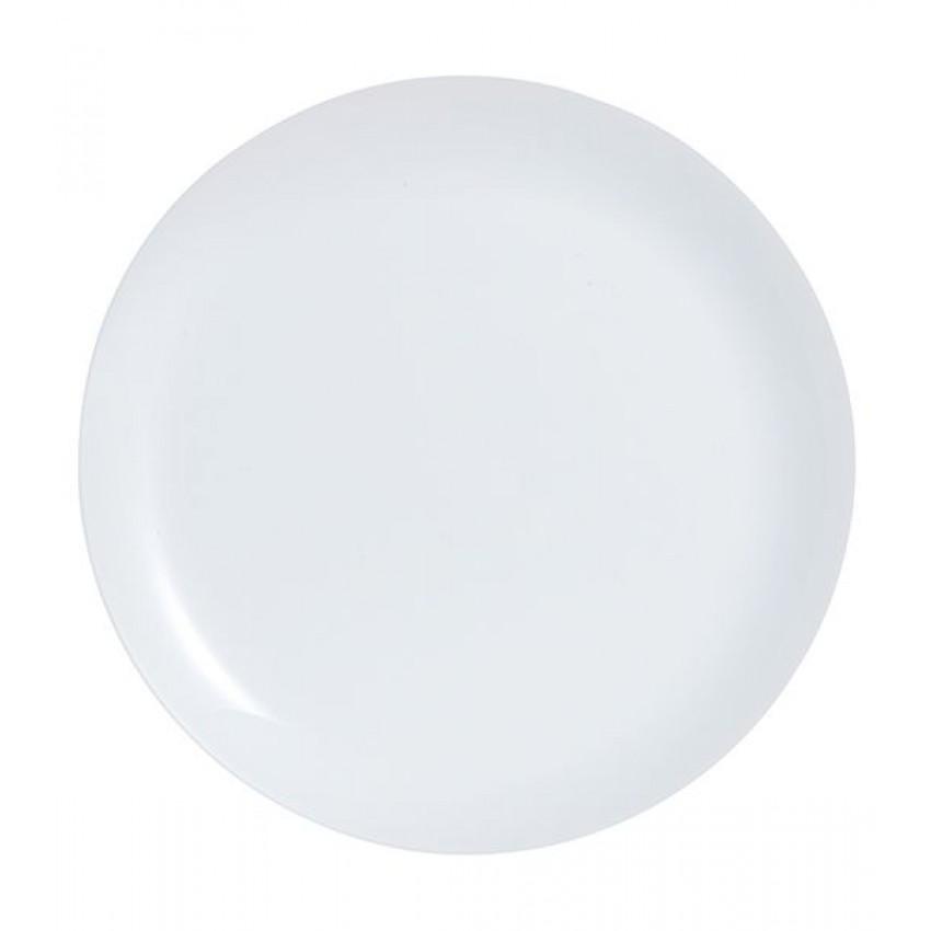 Основна чиния 25см Luminarc Diwali бяла - 6 броя