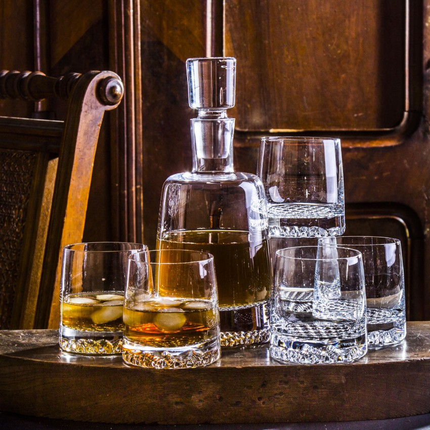 Комплект за уиски Krosno Fiord - гарафа с 6 чаши