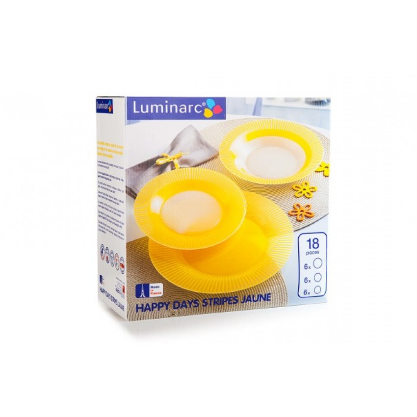 сервиз Luminarc Happy Days Yellow - 18 части