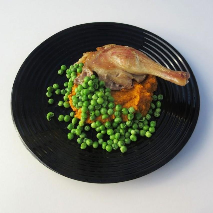 Основна чиния 25см - 6 броя - Harena черна