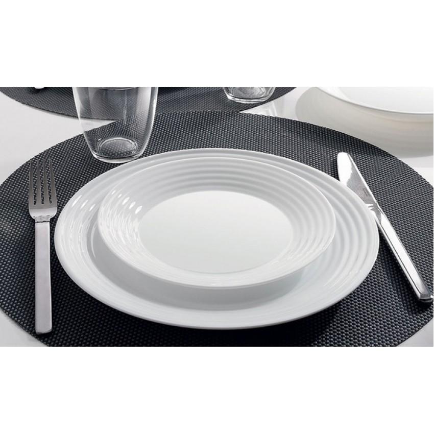 Десертна чиния 19см - 6 броя - Harena бяла
