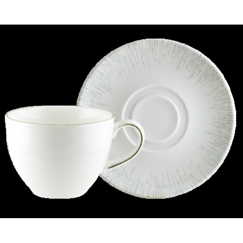 Чаша за чай 230ml с чинийка - 1 брой - Bonna Iris