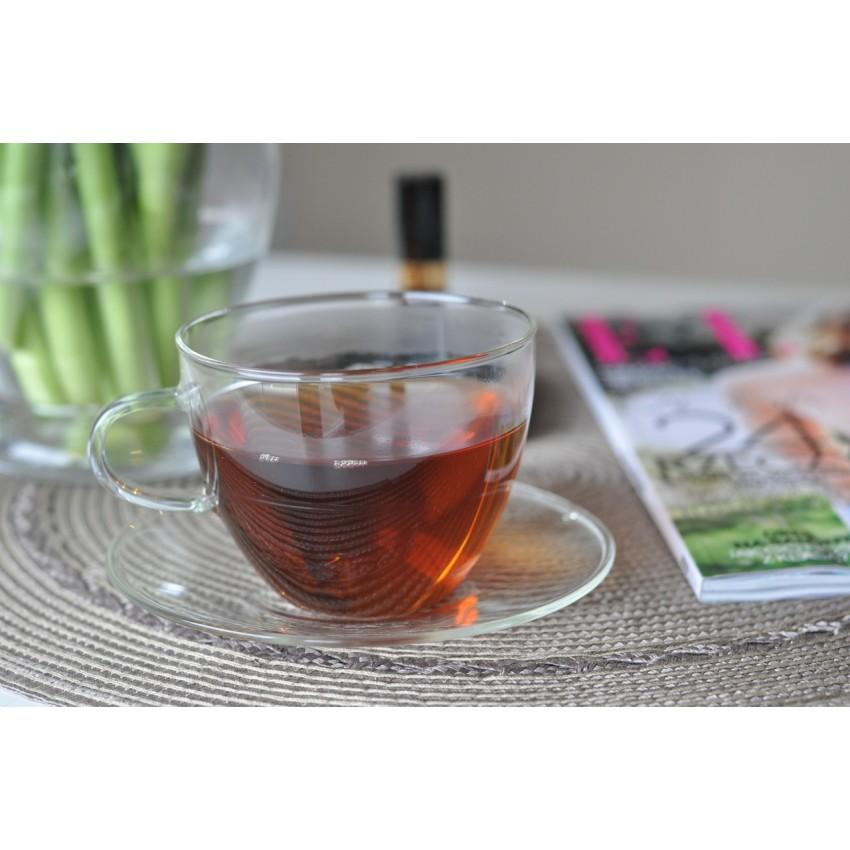чаша с чинийка за топли напитки Classic 220ml - 6 броя