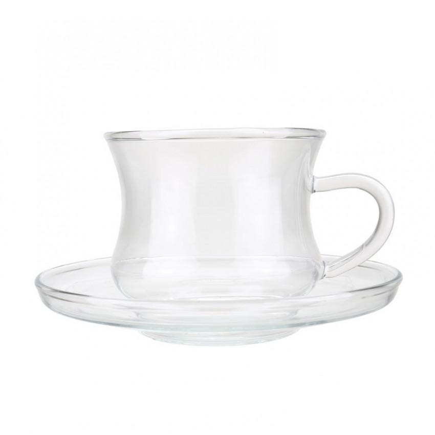 чаша с чинийка за топли напитки IZA 220ml - 6 броя