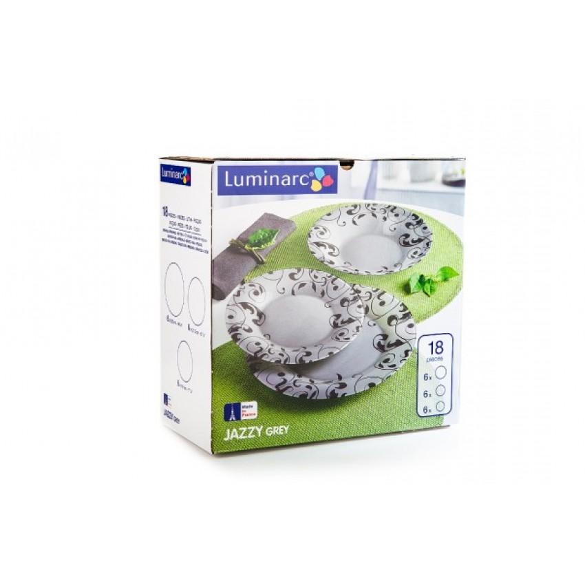 сервиз Luminarc Jazzy Grey - 18 части