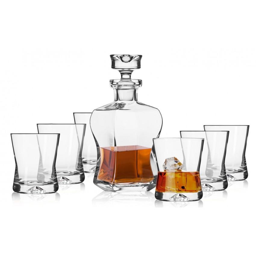 Комплект за уиски Krosno Lifestyle - гарафа с 6 чаши