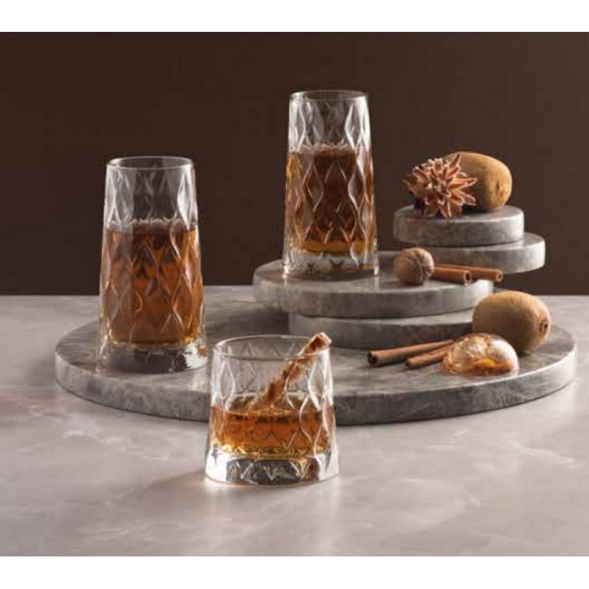 Чаши за вода и коктейл Leafy 455ml - 4 броя