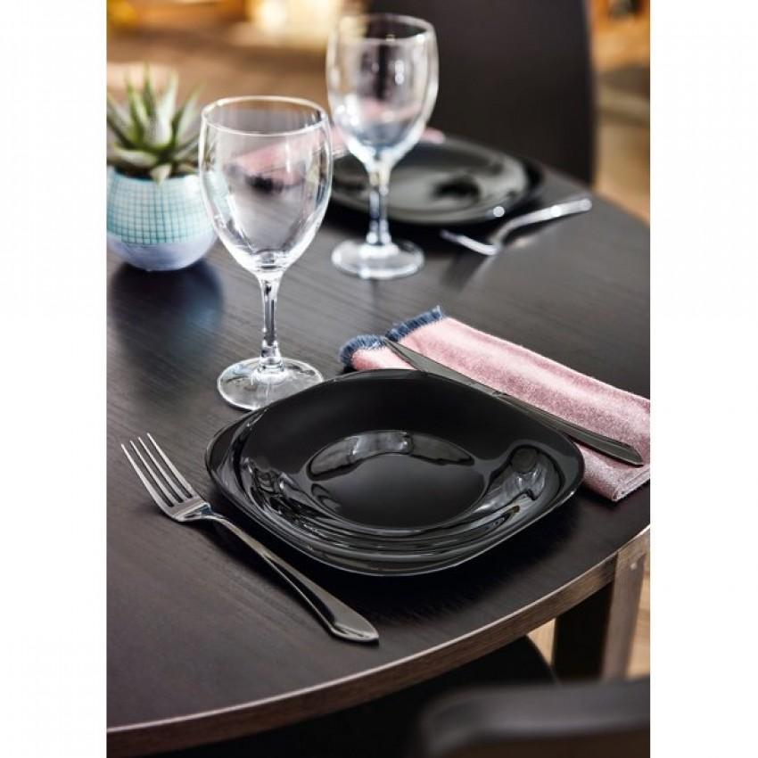 Десертна чиния 19см - Luminarc Carine - черна - 6 броя