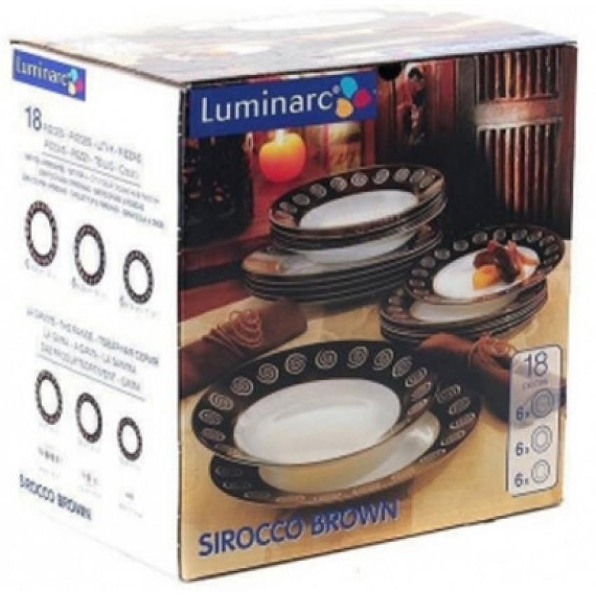 Сервиз Luminarc Sirocco Brown 18 части