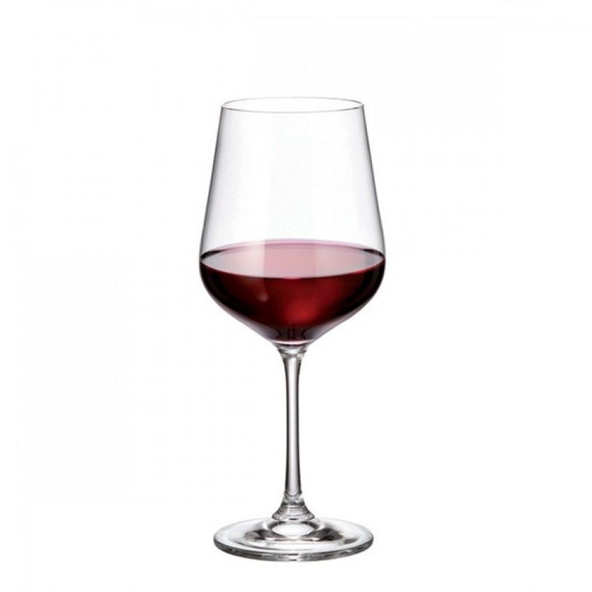 чаши за червено вино 580ml Bohemia Strix - 6 броя